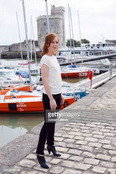 Erika Sainte attends day 2 photocall of 20th Festival of TV Fiction on September 13 2018 in La Rochelle France