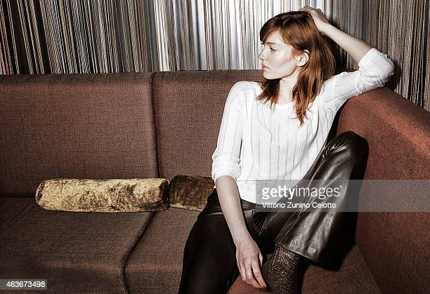 Erika Sainte poses for Self Assignment on February 10 2015 in Berlin Germany