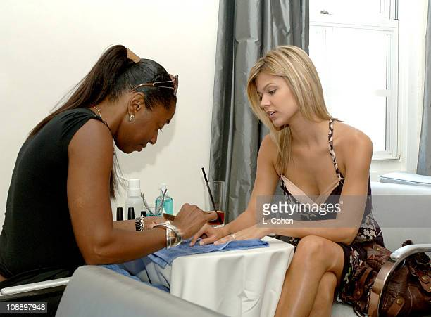Erika Schaefer during John Frieda Luminous Color Glaze PreEmmy Suite at Roosevelt Hotel in Hollywood California United States