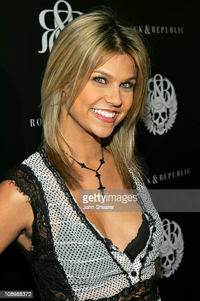 Erika Schaefer during Rock Republic Spring 2007 Preview Party Red Carpet at Area Nightclub in West Hollywood California United States