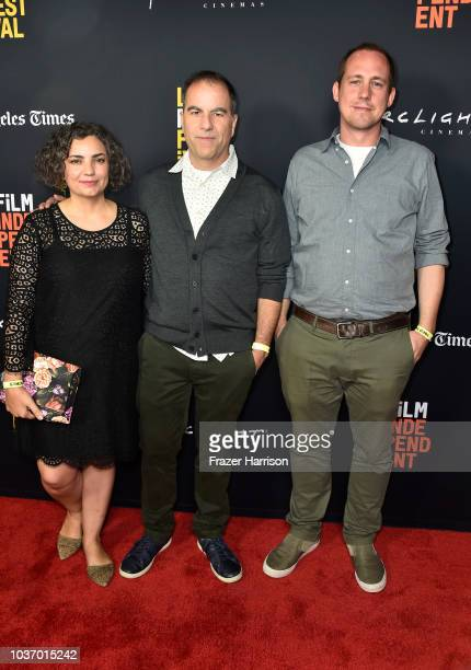 Erika Senese Billy Senese Jonathan Rogers attend the 2018 LA Film Festival Opening Night Premiere Of 'Echo In The Canyon' at John Anson Ford...