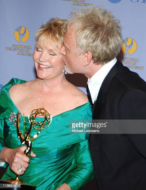 Erika Slezak and Anthony Geary during 32nd Annual Daytime Emmy Awards Press Room at Radio City Music Hall in New York City New York United States