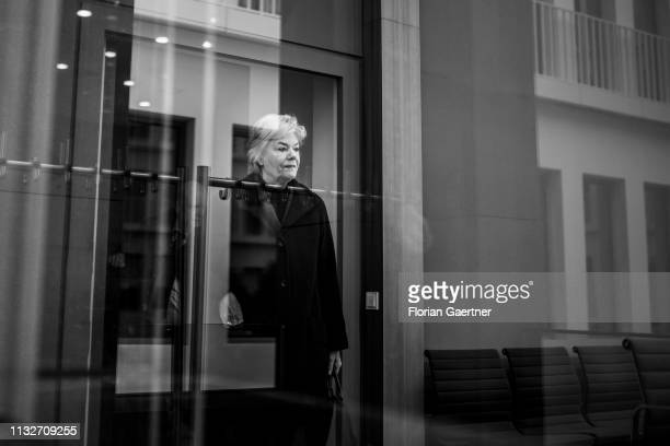 Erika Steinbach President of DesideriusErasmus foundation is pictured during a press conference on March 25 2019 in Berlin Germany