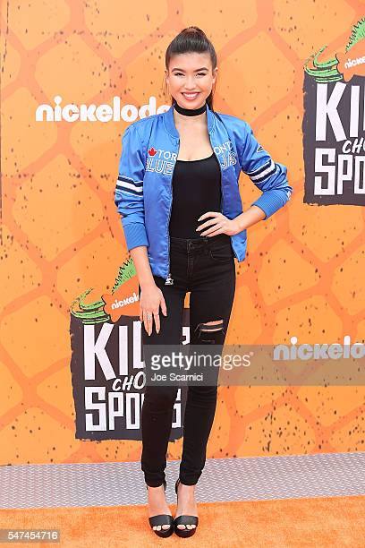 Erika Tham arrives at Nickelodeon Kids' Choice Sports Awards 2016 at UCLA's Pauley Pavilion on July 14 2016 in Westwood California