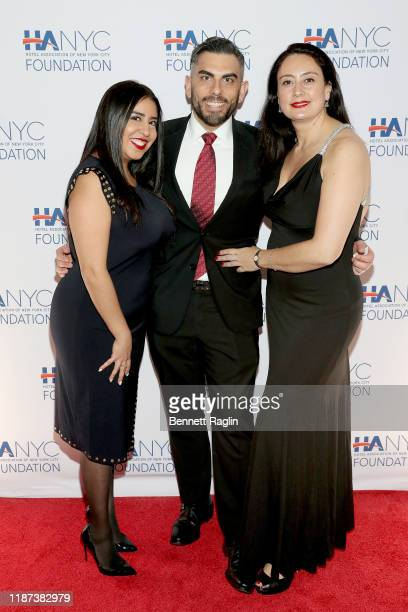 Erika Velez Michael Grosso Natalia Mejia attend The Red Carpet Hospitality Gala Hosted by the Hotel Association Of New York City Foundation at Grand...