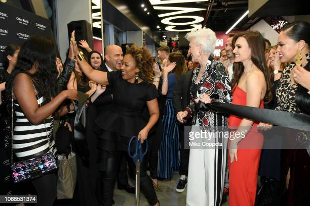 Erika Woods Ukonwa Ojo Maye Musk Shelina Moreda and Ayesha Curry attend as COVERGIRL Opens The Doors To Their First Flagship Store An Experiential...