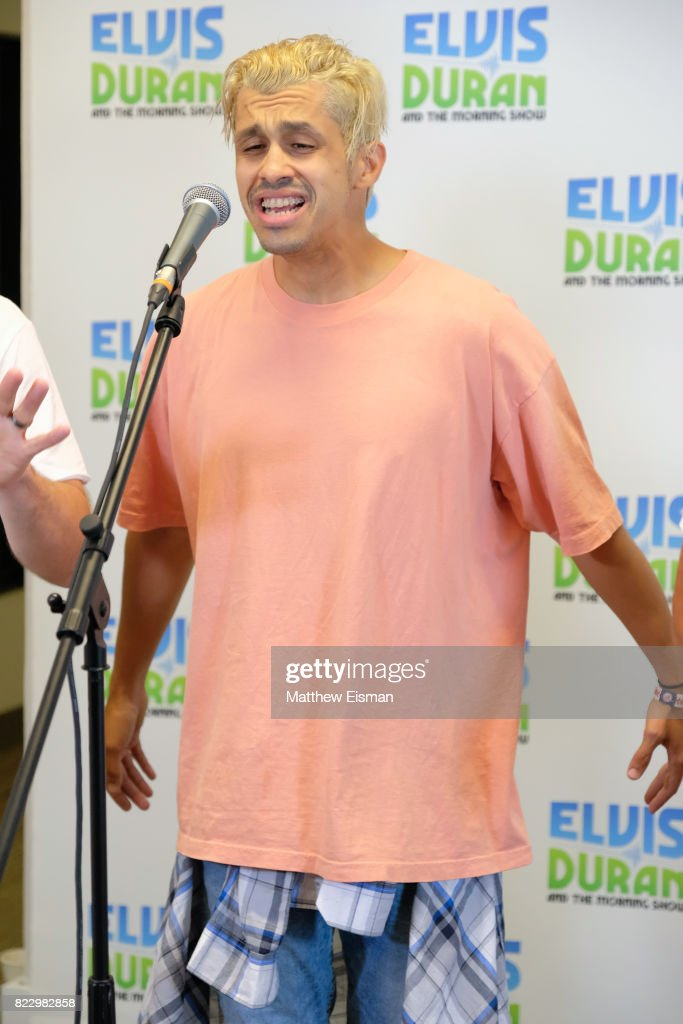 Erik-Michael Estrada of the band O-Town performs live on 'The Elvis Duran Z100 Morning Show' at Z100 Studio on July 24, 2017 in New York City.