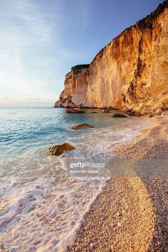 Erimitis beach, Paxos, Lonian islands, Greece : Stock Photo
