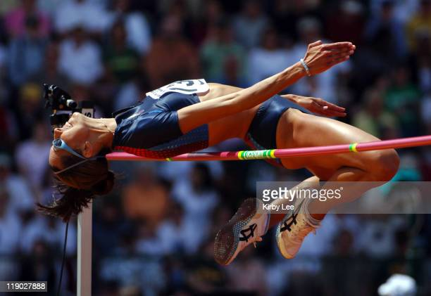 Erin Aldrich won the women's high jump at 64 3/4 in the 31st Prefontaine Classic at the University of Oregon's Hayward Field in Eugene Ore on...