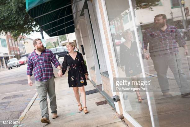 Erin and Ben Napier the stars of HGTV's Home Town were photographed in Laurel MS HGTV one of the nation's top five creates relatable starsthe...