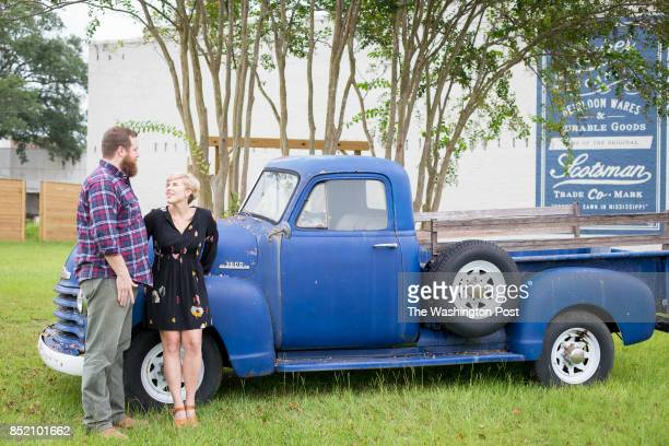 Erin and Ben Napier the stars of HGTV's Home Town were photographed outside their business Laurel Merchantile Co in Laurel MS HGTV one of the...