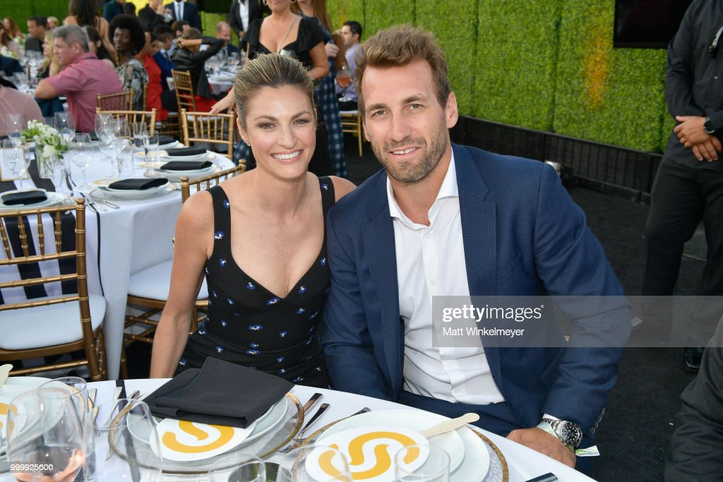 Erin Andrews and Jarret Stoll attend the 33rd Annual Cedars-Sinai Sports Spectacular at The Compound on July 15, 2018 in Inglewood, California.