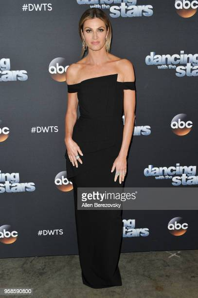 Erin Andrews arrives at ABC's 'Dancing With The Stars Athletes' Season 26 semifinal show on May 14 2018 in Los Angeles California