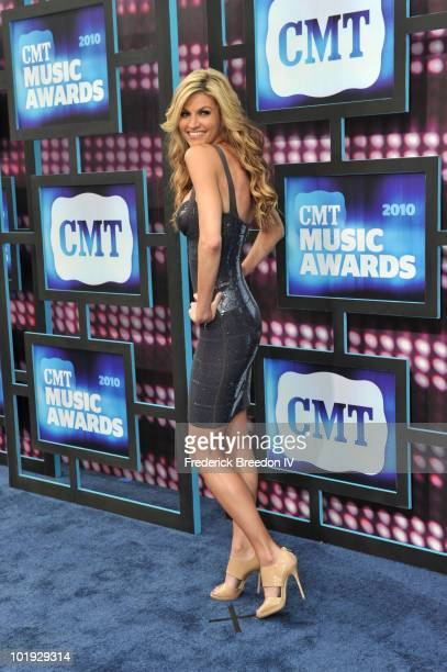 Erin Andrews attends the 2010 CMT Music Awards at the Bridgestone Arena on June 9 2010 in Nashville Tennessee
