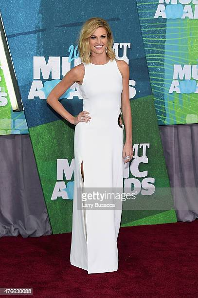 Erin Andrews attends the 2015 CMT Music awards at the Bridgestone Arena on June 10, 2015 in Nashville, Tennessee.