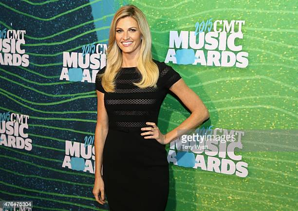 Erin Andrews attends the 2015 CMT Music Awards Press Preview Day on June 9 2015 in Nashville Tennessee