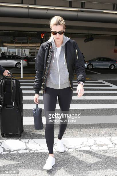 Erin Andrews is seen at LAX on April 27 2017 in Los Angeles California