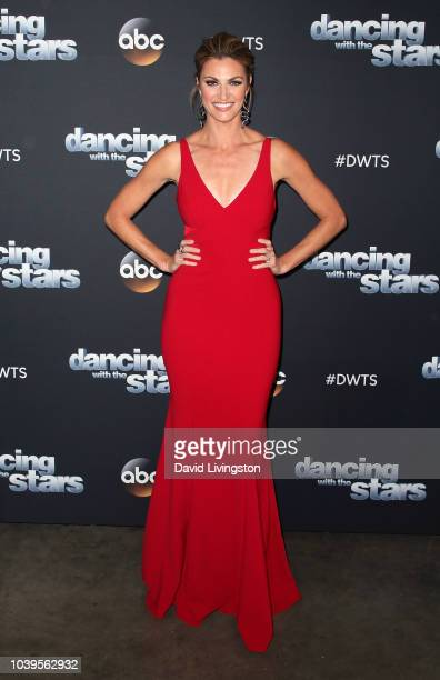 Erin Andrews poses at Dancing with the Stars Season 27 at CBS Televison City on September 24 2018 in Los Angeles California