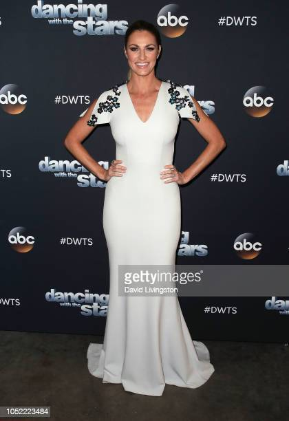 Erin Andrews poses at 'Dancing with the Stars' Season 27 at CBS Televison City on October 15 2018 in Los Angeles California