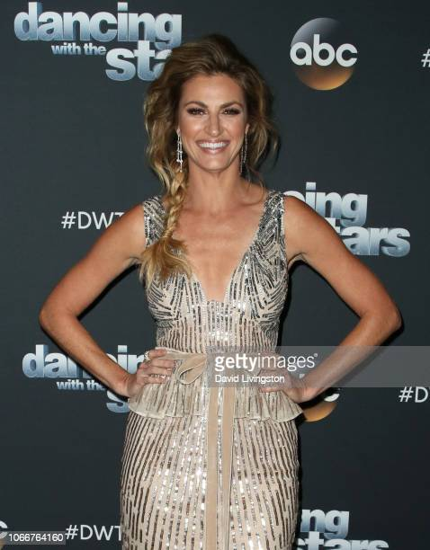 Erin Andrews poses at 'Dancing with the Stars' Season 27 at CBS Television City on November 12 2018 in Los Angeles California