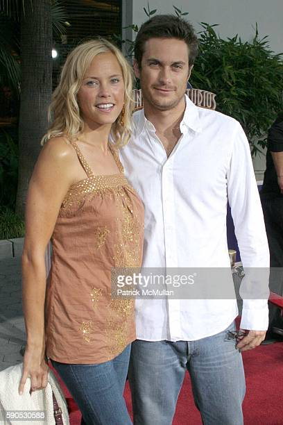 Erin Bartlett and Oliver Hudson attend Skeleton Key Los Angeles Premiere at Universal Studio Cinemas on August 2 2005 in Universal City CA