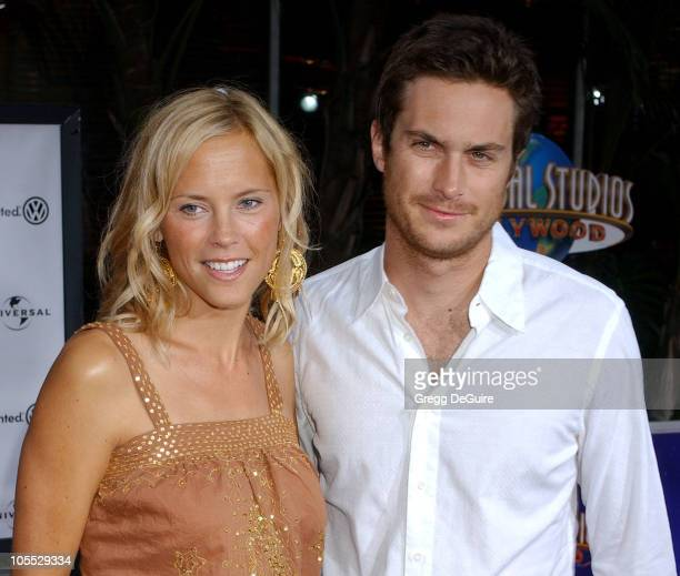 Erin Bartlett and Oliver Hudson during The Skeleton Key Los Angeles Premiere Arrivals at Universal Studios Cinema in Universal City California United...