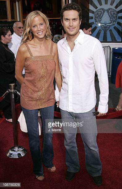 Erin Bartlett and Oliver Hudson during The Skeleton Key Los Angeles Premiere Arrivals at Universal City Walk in Universal City California United...