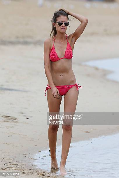 Erin Bateman enjoys the beach on April 27 2016 in Melbourne Australia