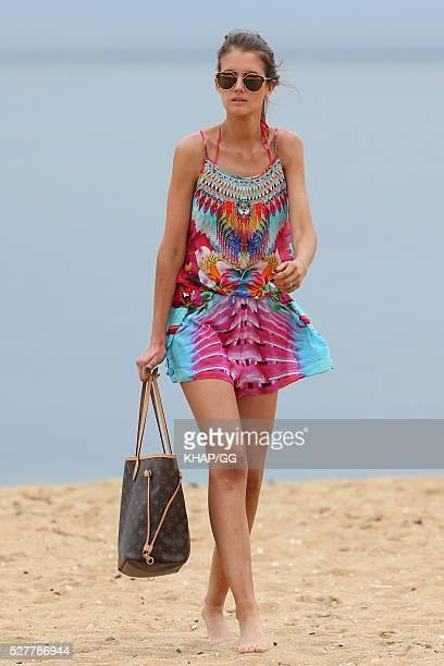 Erin Bateman enjoys the beach on April 27 2016 in Melbourne Australia