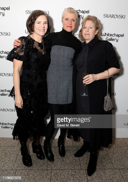 Erin Bell Melanie Manchot Cathy de Monchaux attend a glamorous gala dinner at Whitechapel Gallery as Rachel Whiteread is celebrated as the recipient...
