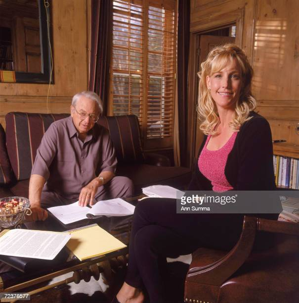 Erin Brockovich and Ed Masry pose for exclusive portraits April 3 2000 in Los Angeles CA