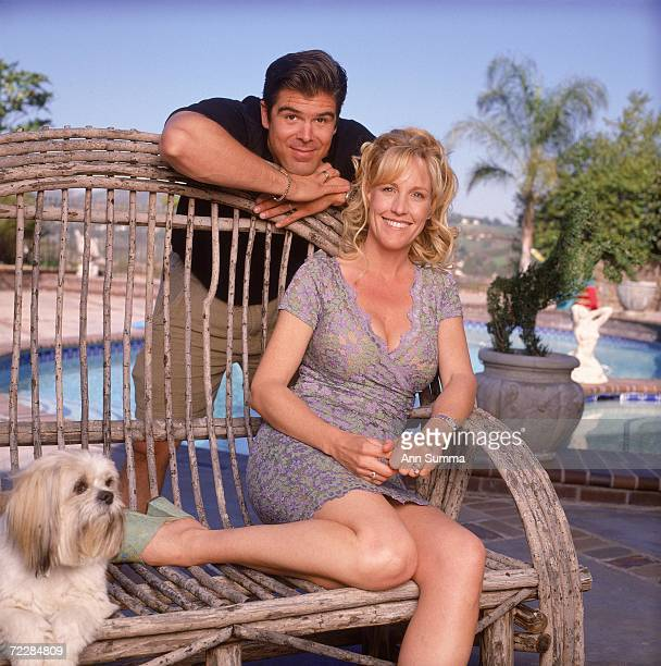 Erin Brockovich and husband Eric Ellis pose for exclusive portraits April 3 2000 in Los Angeles CA