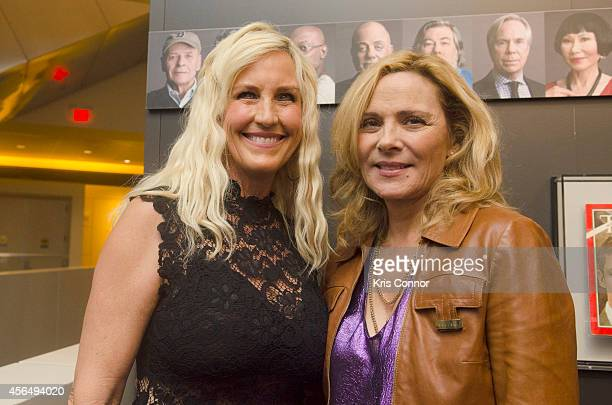 Erin Brockovich and Kim Catrall attend the opening of The Boomer ListPhotographs by Timothy GreenfieldSanders Exhibition at The Newseum on October 1...