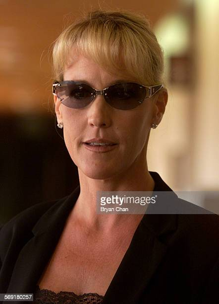 Erin Brockovich arrives in Ventura County Superior Court to testify in an alleged extortion scheme directed at her and Ed Masry by John Reiner