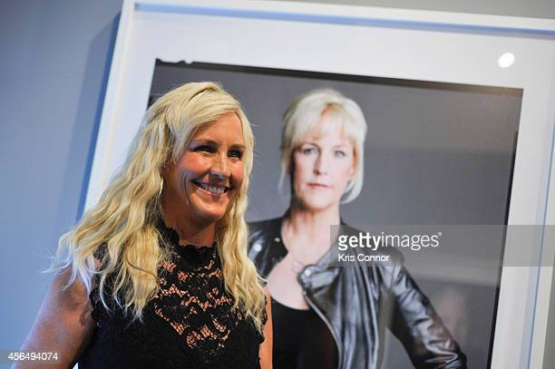 Erin Brockovich attends the opening of The Boomer ListPhotographs by Timothy GreenfieldSanders Exhibition at The Newseum on October 1 2014 in...