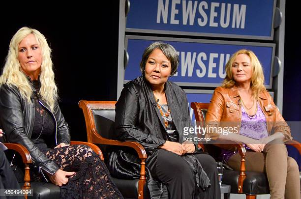 Erin Brockovich JulieAnna Richardson and Kim Catrall attend the opening of The Boomer ListPhotographs by Timothy GreenfieldSanders Exhibition at The...