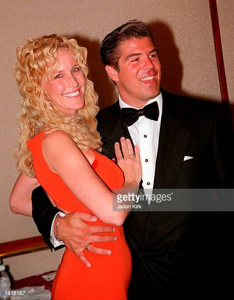 Erin Brockovich with her husband Eric Ellis at MDA''s Annual A Night Under The StarsAll That Jazz black tie charity event April 29 2000 in Beverly...