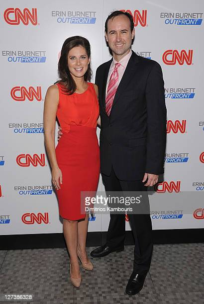 """Erin Burnett and CNN executive producer Will Surratt attend the launch party for CNN's """"Erin Burnett OutFront"""" at Robert atop the Museum of Arts and..."""