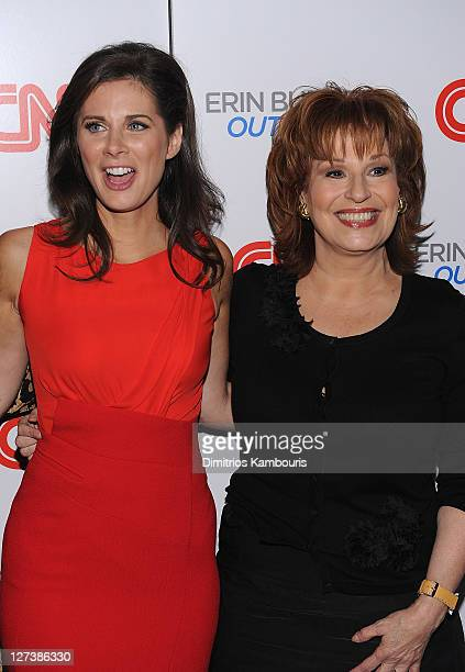 """Erin Burnett and Joy Behar attend the launch party for CNN's """"Erin Burnett OutFront"""" at Robert atop the Museum of Arts and Design on September 27,..."""