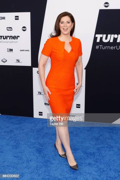 Erin Burnett attends the 2017 Turner Upfront at Madison Square Garden on May 17 2017 in New York City