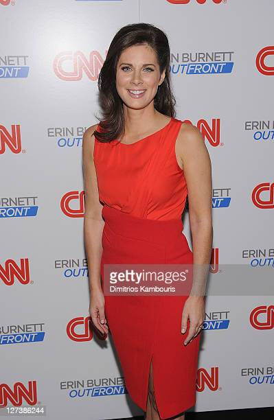 """Erin Burnett attends the launch party for CNN's """"Erin Burnett OutFront"""" at Robert atop the Museum of Arts and Design on September 27, 2011 in New..."""