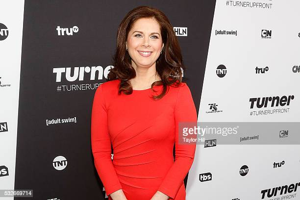 Erin Burnett attends the Turner Upfront 2016 arrivals at The Theater at Madison Square Garden on May 18 2016 in New York City