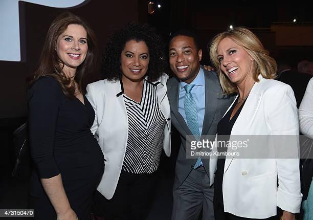 Erin Burnett, Michaela Pereira, Don Lemon and Alisyn Camerota attend the Turner Upfront 2015 at Madison Square Garden on May 13, 2015 in New York...