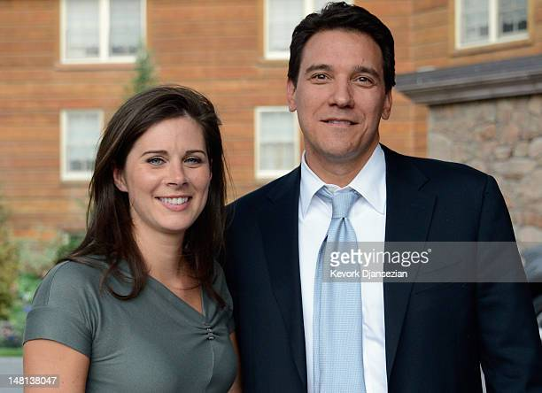 Erin Burnett, news anchor of her own news show on CNN, and her finacee Citigroup executive David Rubulotta arrive for the Allen & Company Sun Valley...