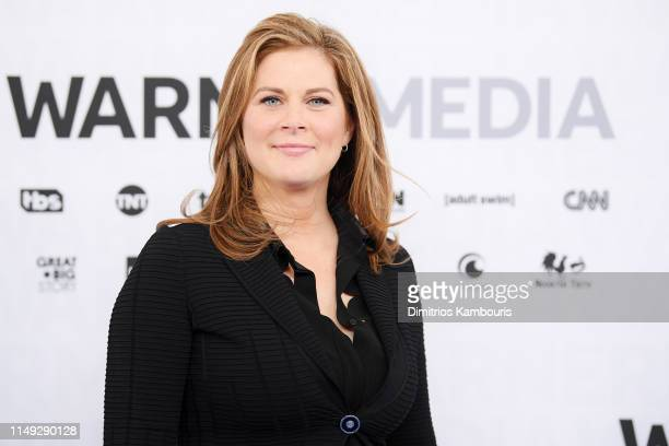 Erin Burnett of CNN's Erin Burnett Outfront attends the WarnerMedia Upfront 2019 arrivals on the red carpet at The Theater at Madison Square Garden...
