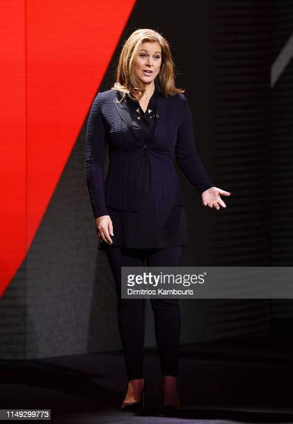 Erin Burnett of CNN's Erin Burnett Outfront speaks onstage during the WarnerMedia Upfront 2019 show at The Theater at Madison Square Garden on May...