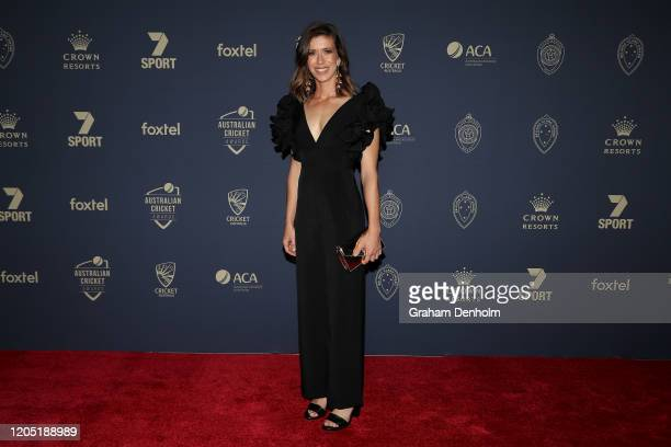 Erin Burns arrives ahead of the 2020 Cricket Australia Awards at Crown Palladium on February 10 2020 in Melbourne Australia