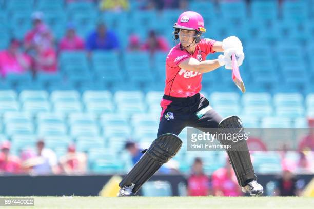 Erin Burns of the Sixers bats during the Women's Big Bash League match between the Sydney Sixers and the Hobart Hurricanes at Sydney Cricket Ground...