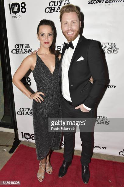 Erin Cahill and Paul Freeman attend 108 Media's Cut To The Chase premiere at Laemmle's Music Hall 3 on March 6 2017 in Beverly Hills California