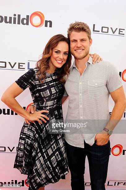 Erin Cahill and Travis Van Winkle attend LoveLife Fundraiser to support buildOn hosted by Travis Van Winkle at Siren Studios on February 15 2015 in...
